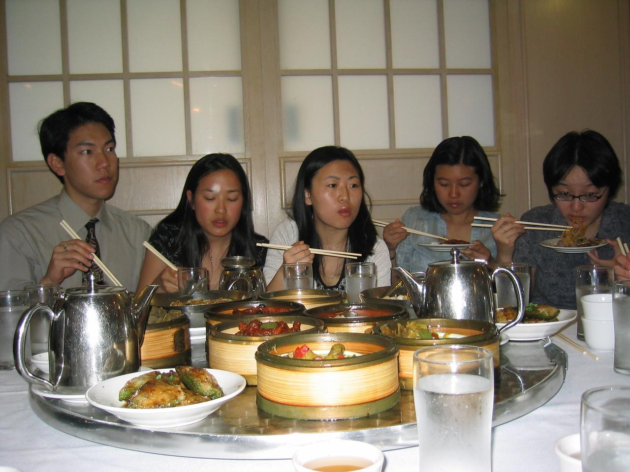 Syncronized Chopstick Twirling Team