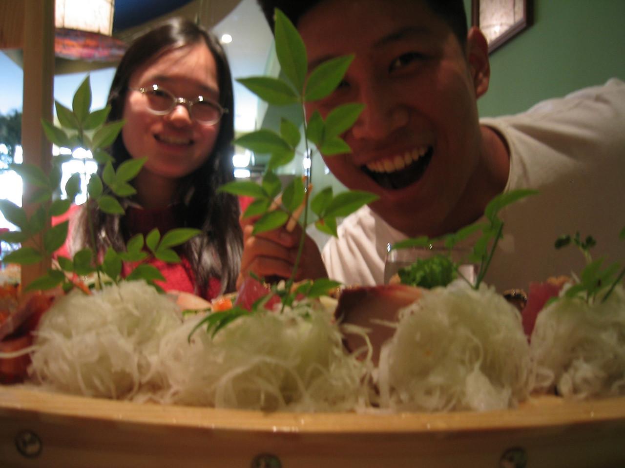 Melissa's welcome back dinner @ Tanaka Sushi - Christine & Luke, Sunday 2003 07 20