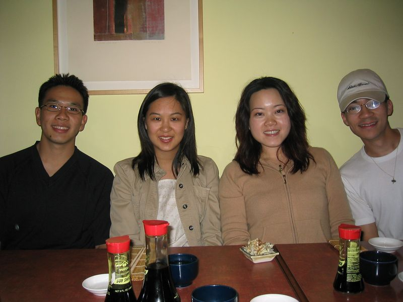 Joe Chen, Julienne, Maggie Yang, & a Bing Yoo @ Chin's, Saturday 5 24 2003