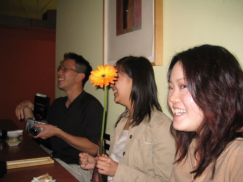 Joe Chen, Julienne, & Maggie Yang @ Chin's, Saturday 5 24 2003