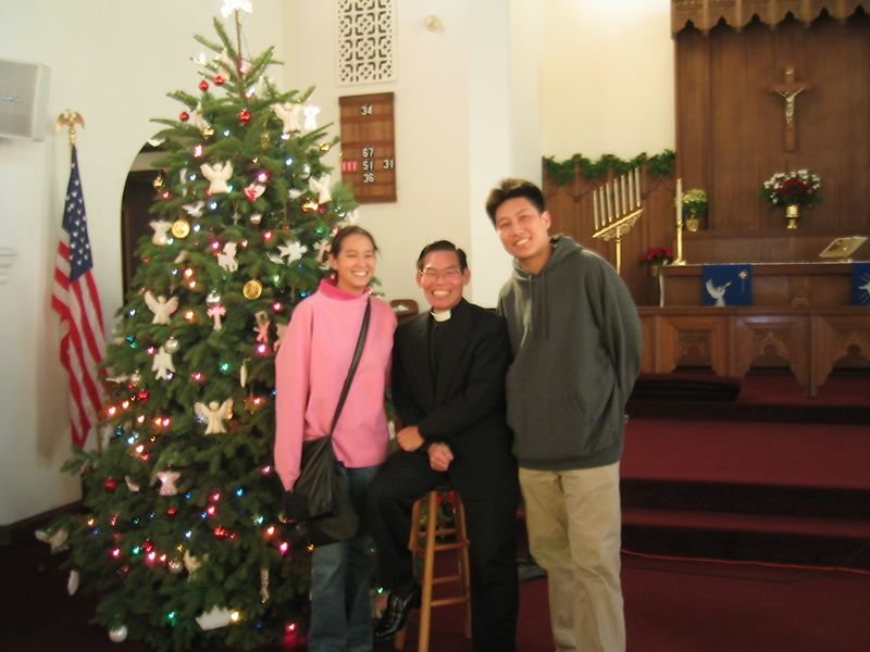 Jenny and Luke with Pastor Chen
