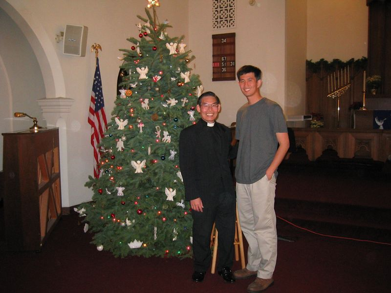 Ben Liu and Pastor Chen
