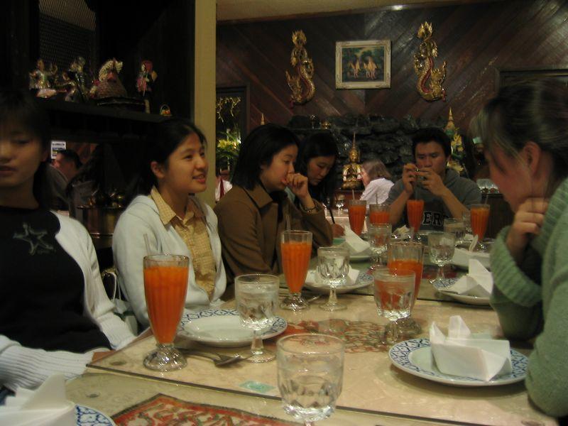 Rita's B-day Dinner @ Thai House 3-15-2003, Thai Ice Tea addicts