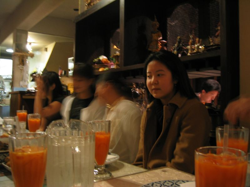Rita's B-day Dinner @ Thai House 3-15-2003, east side