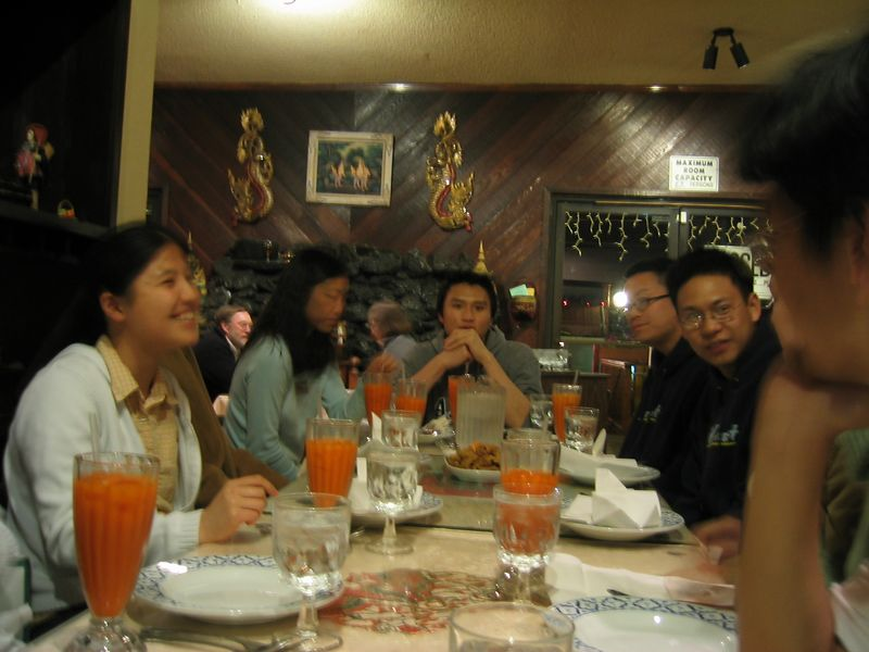 Rita's B-day Dinner @ Thai House 3-15-2003, south side