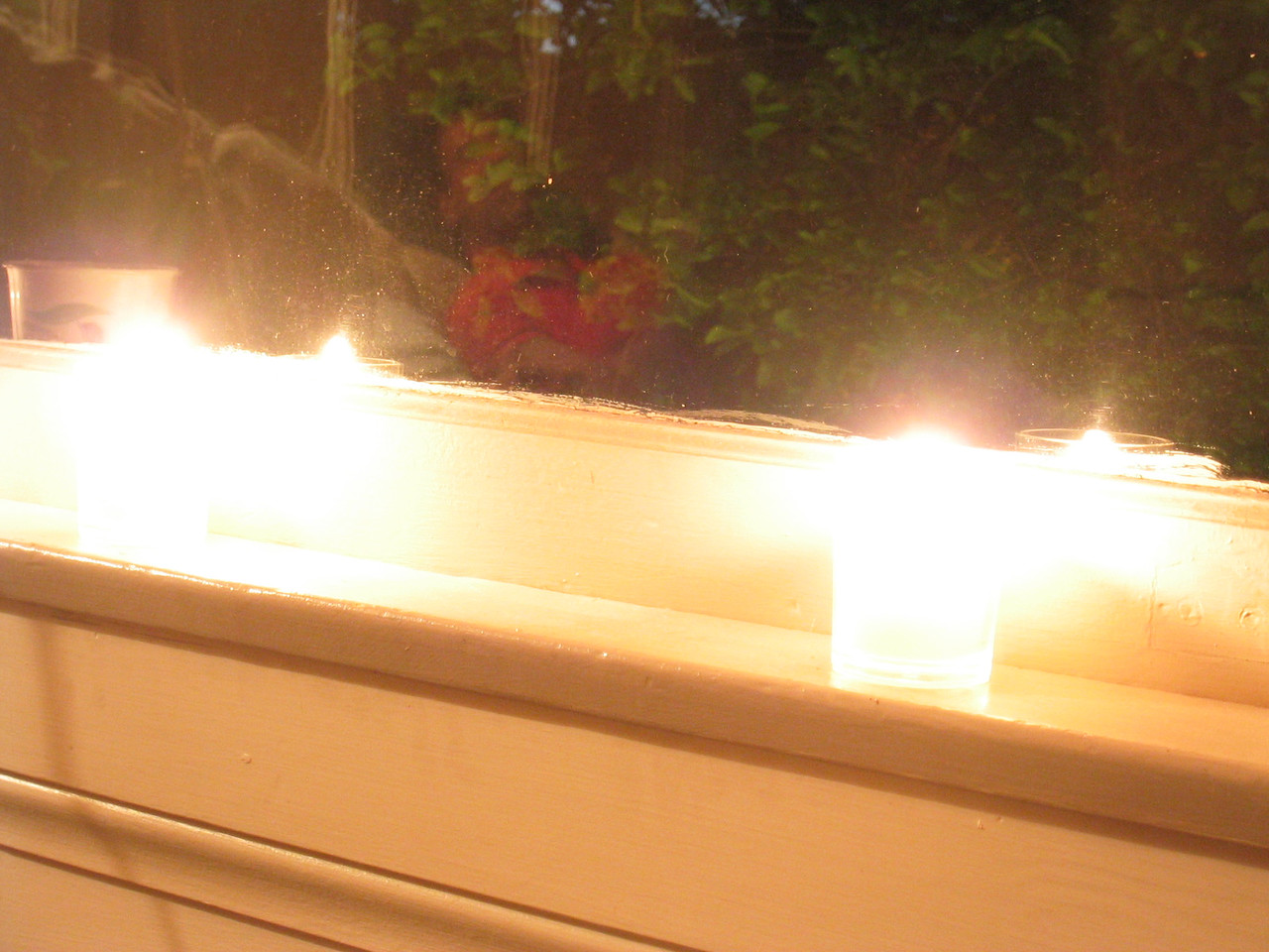 Living room candles - overexposed