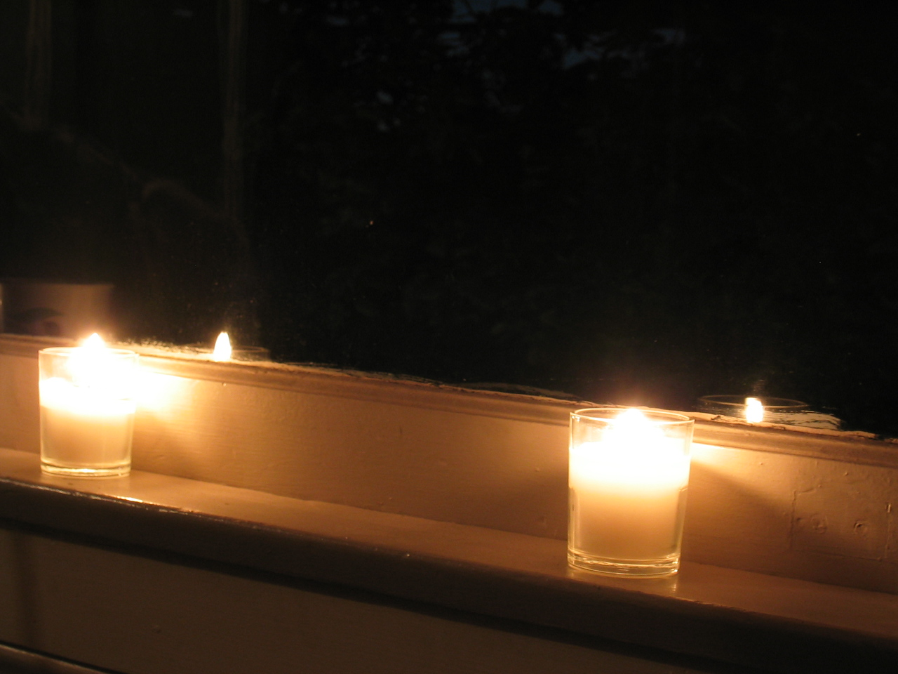Living room candles