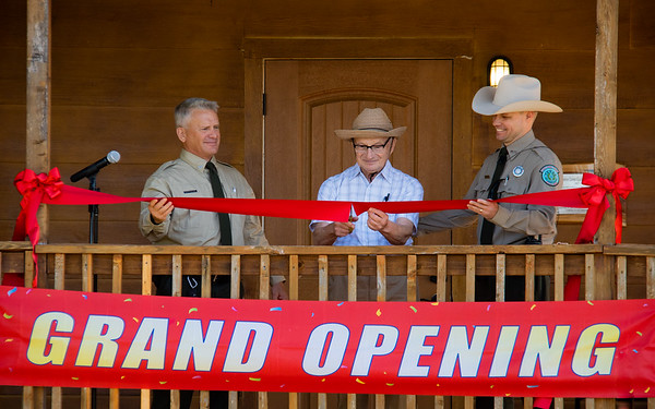 Carlos Araos dedicates the Grand Opening of the Nature Center at Johnson Branch State Park, Texas, on October 9th, 2021.