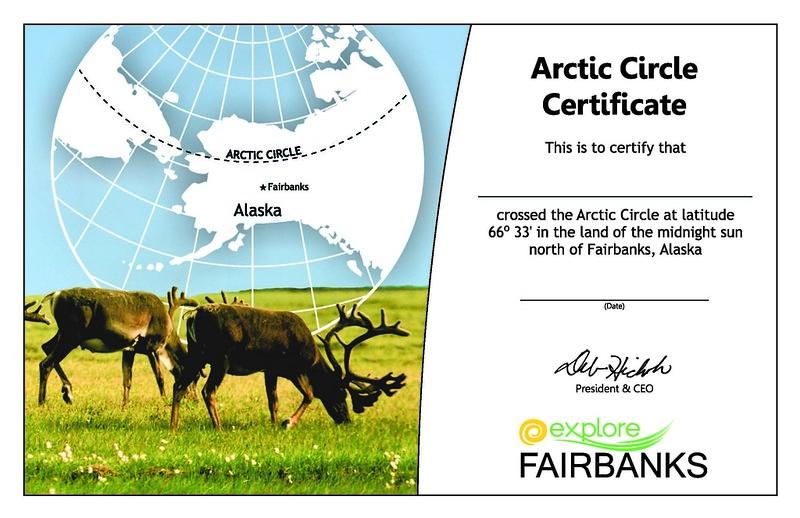 Arctic Circle Certificate Widget