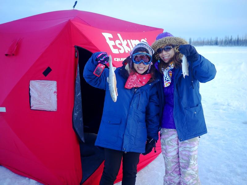 ICE FISHING - Photo courtesy of Alaska Fishing & Raft Adventures