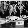 Signing of the EEC-Sweden bilateral trade agreement in July 1972 (Photo: EFTA)