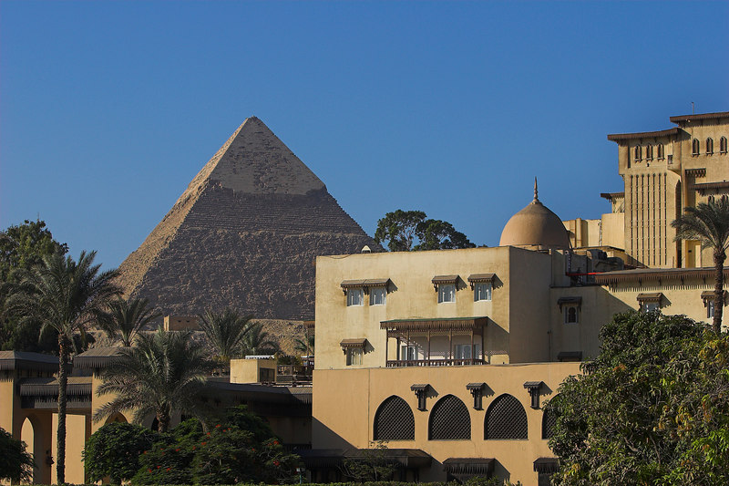 The Mena House Oberoi<br /> View of the Great Pyramid