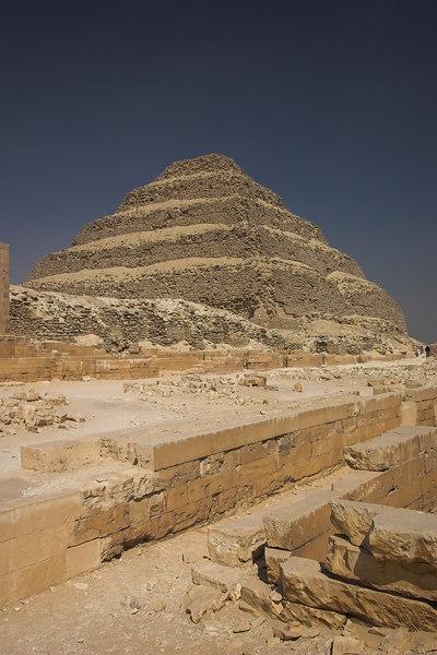 The Pyramid of Zoser (Djoser) at Saqqara<br /> The First True Pyramid