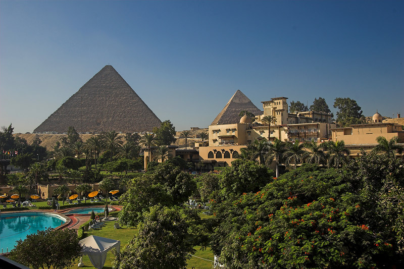 The Mena House Oberoi<br /> View of the Pyramids