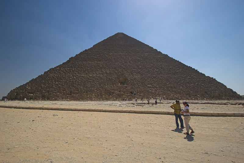 The Great Pyramid of Khufu (Cheops) on the Ghiza Plateau
