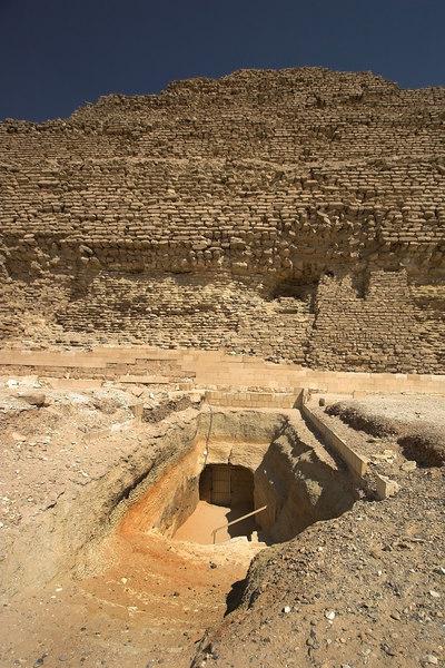 Entryway to the Pyramid of Zoser (Djoser) at Saqqara