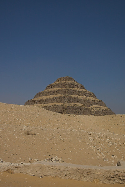The Pyramid of Zoser (Djoser) at Saqqara<br /> The First True Pyramid - architect Imhotep