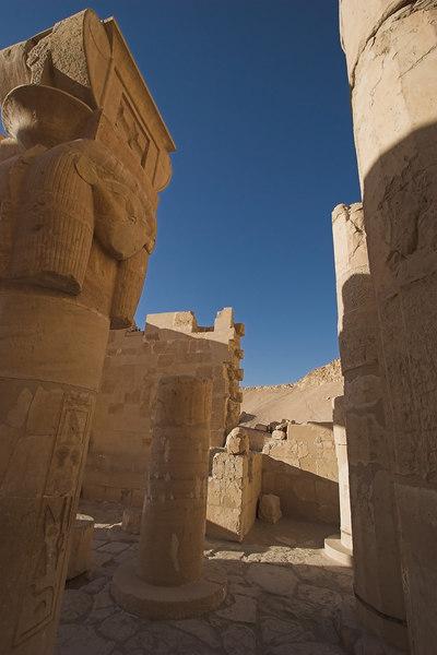 Temple of Hatshepsut<br /> Columns with Goddess Hathor