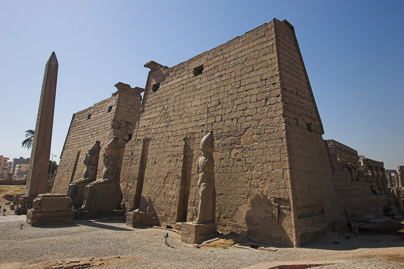 Luxor Temple<br /> Built largely by Amenhotep III and Ramesses II