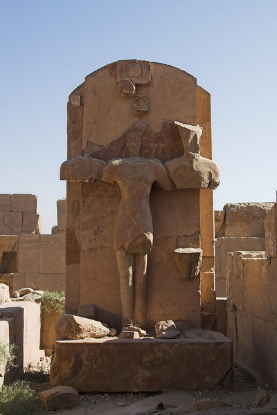 Egyptian statues converted into a Christian cross<br /> Karnak Temple Complex