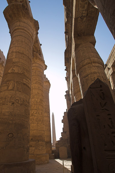 Karnak Complex<br /> Columns in The Great Hypostyle Hall of the Temple of Amun