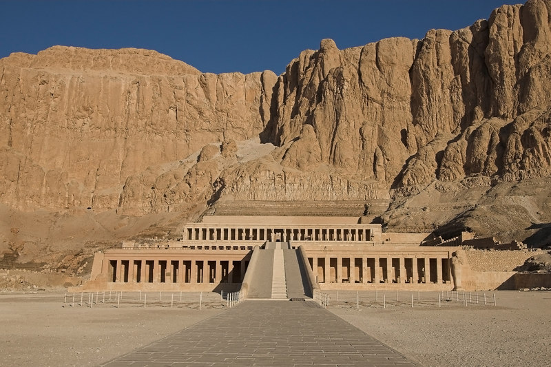 Hatshepsut's Temple at Deir el-Bahri<br /> She was the first female Pharaoh