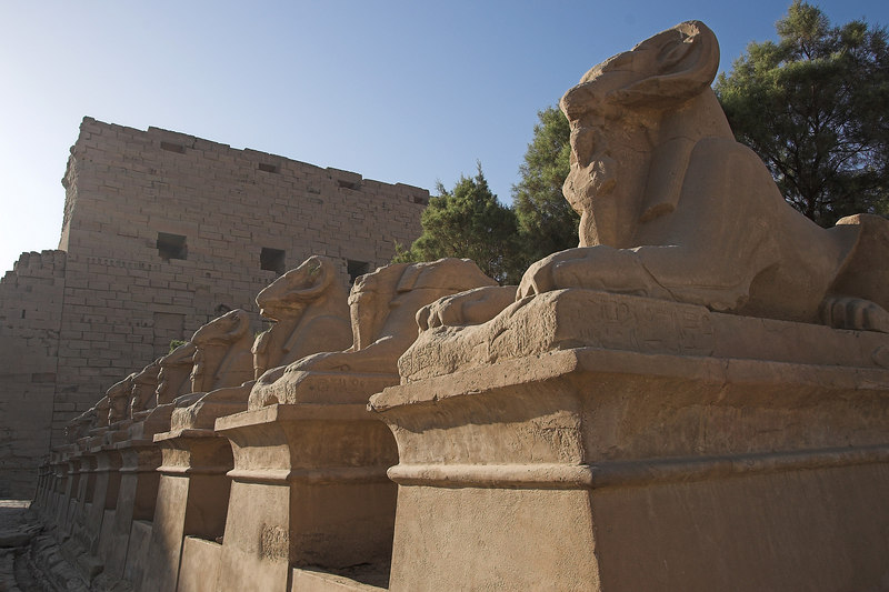 Karnak Temple Complex<br /> Ram-Headed Sphinxes