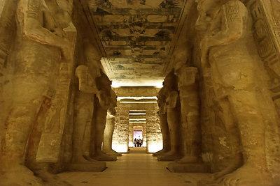Osiris Pillars in the Hypostyle Hall Abu Simbel