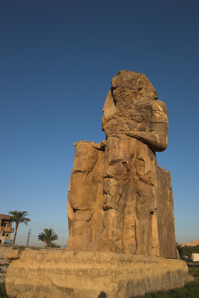 The Colossi of Memnon<br /> The flooding Nile eventually destroyed everything but these large statues