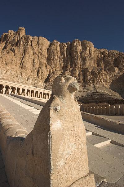 Hatshepsut's Temple<br /> Falcon Stairway Detail