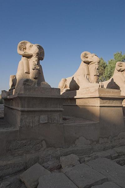 Karnak Temple Complex<br /> Ram-Headed Sphinxes