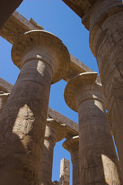Column Detail - The Great Hypostyle Hall<br /> Karnak Temple Complex