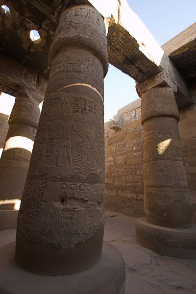 Karnak Temple Complex<br /> Hypostyle Hall in Ramses III Chapel