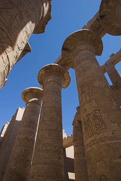 Papyrus-Head Columns Hypostyle Hall<br /> Karnak Temple Complex
