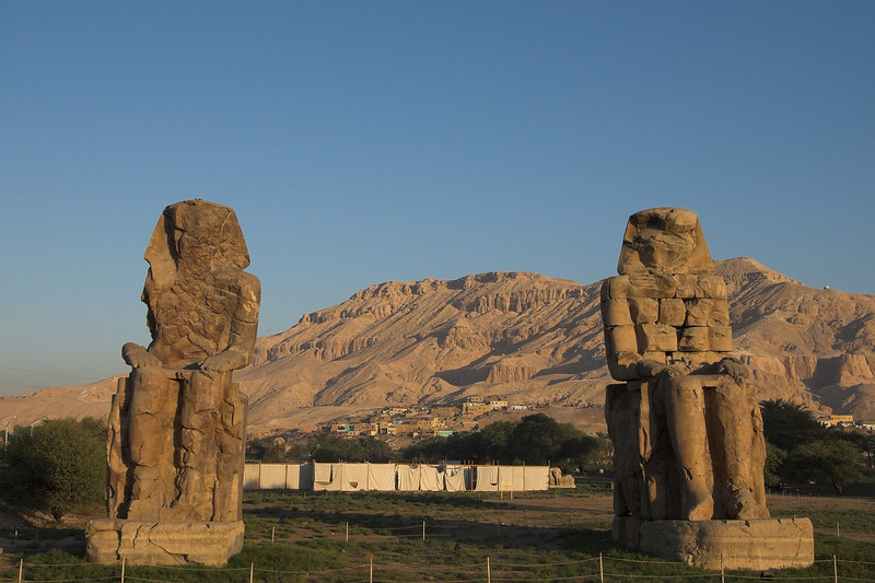 The Colossi of Memnon<br /> All that remains of Amenhotep III mortuary temple