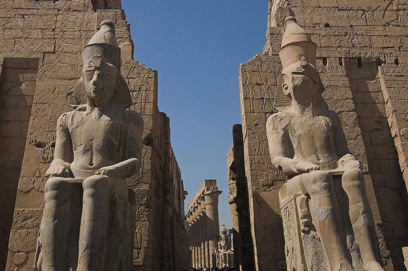 Ramses II & the 1st Pylon<br /> Luxor Temple