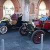 Veteran cars on display of the era of E.H. Coombe, the event was held in the adjoining church hall.