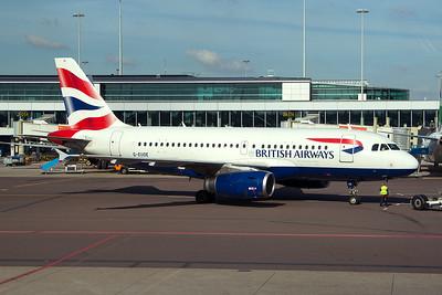 British Airways Airbus A319-131 G-EUOE 9-29-15