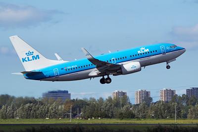 KLM Royal Dutch Airlines Boeing 737-7K2 PH-BGO 9-27-15