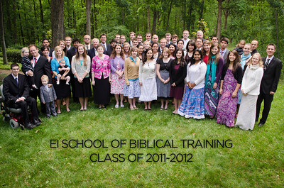Class pictures for the EI School of Biblical Training, Greenville, SC.