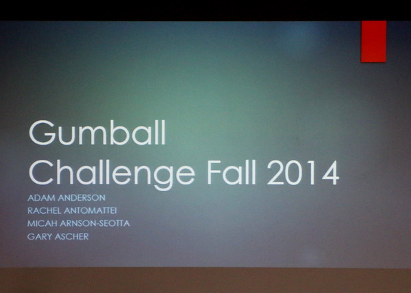 EIP Gumball Challenge: Fall 2014