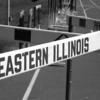Hurdles in stadium at O'Brien Field, Eastern Illinois University at Charleston, IL