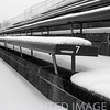 Stadium in winter at O'Brien Field, Eastern Illinois University at Charleston, IL