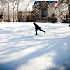 Ice Skating in the Library Quad
