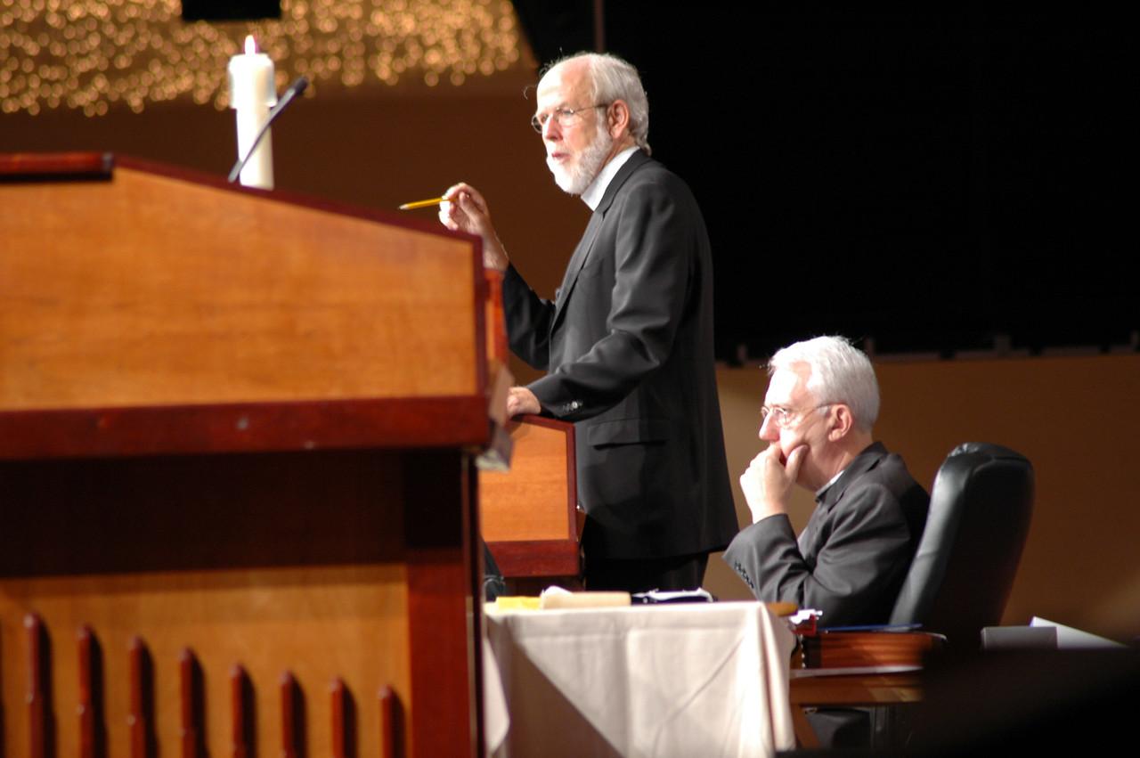 Presiding Bishop Mark Hanson and Secretary Lowell Almen guide Voting Members through parliamentary procedures.