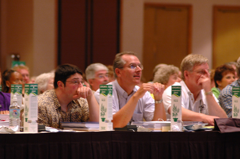 Voting Members at Plenary Session One, Monday evening, August 8, 2005.