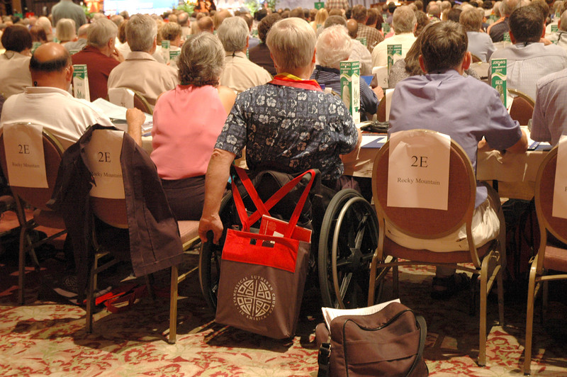 The Voting Members of the Rocky Mountain Synod (2E) attend to the business of Plenary Session One, August 8.