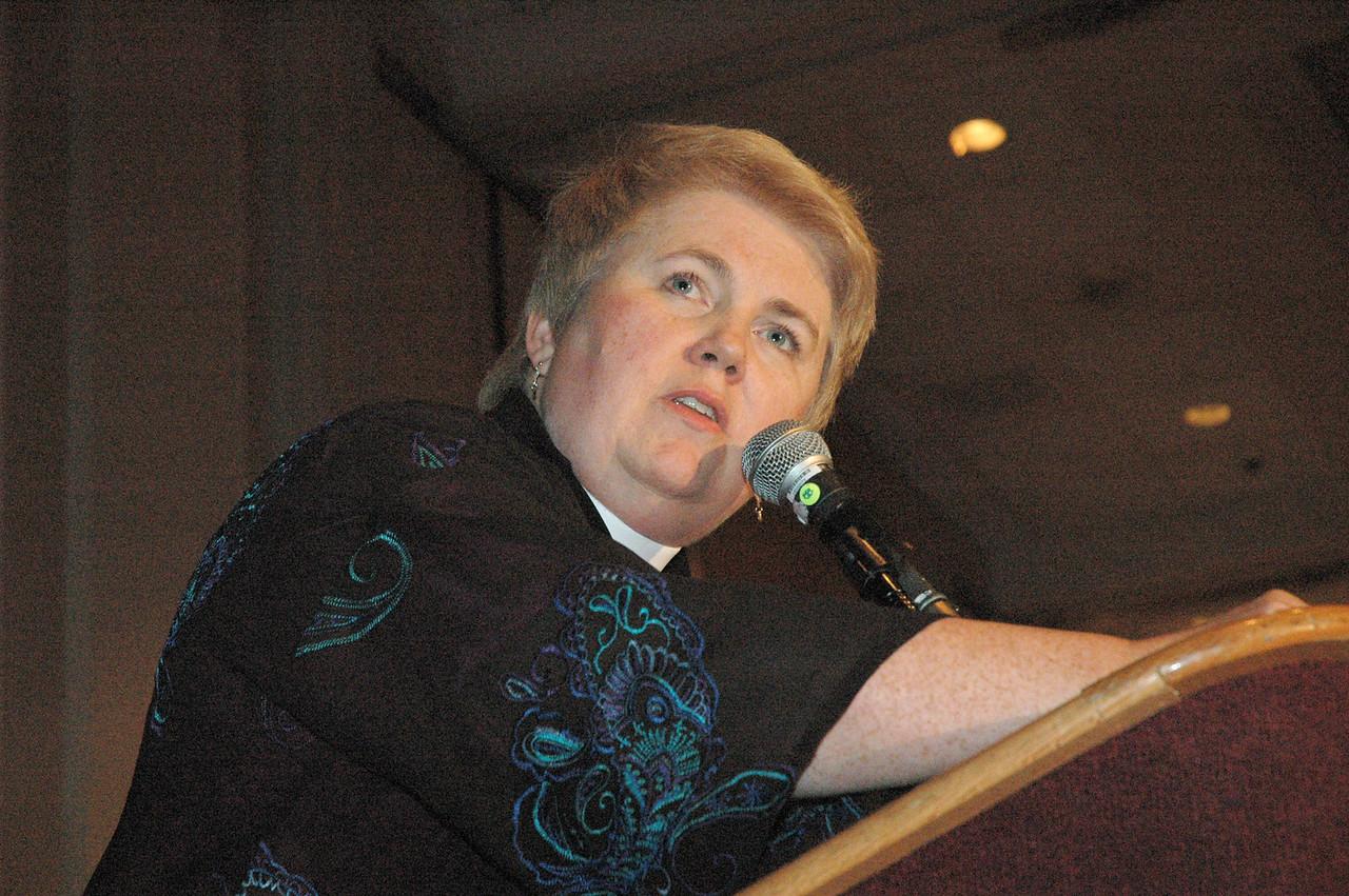 Bishop April Larson (La Crosse Area), emcee for the Celebration for Women in Ministry