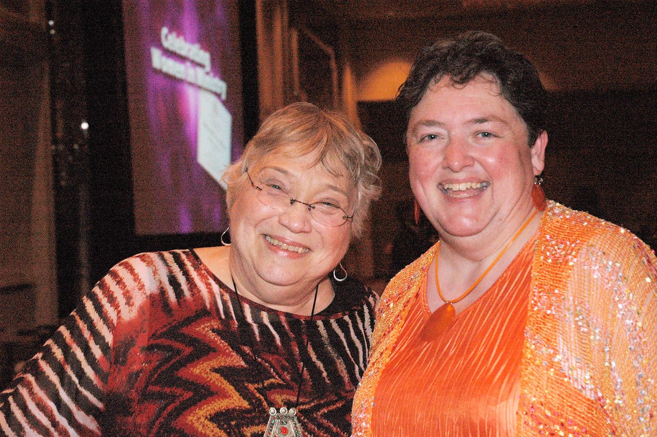 Joanne Chadwick (Executive Director, Commmission for Women) and Linda Post Bushkofsky (Executive Director, Women of the ELCA) at the banquet celebrating women in ministry.