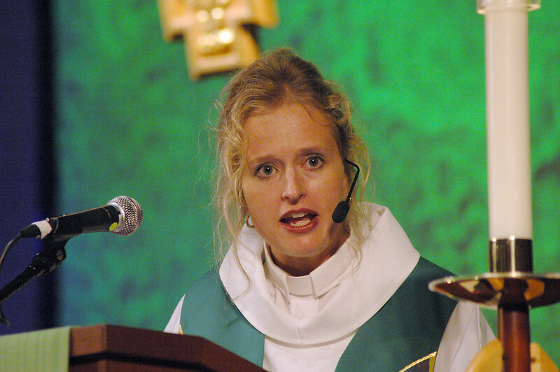 Pr. Angela Zimmann (Holland, Ohio) preached at the worship service on Saturday.